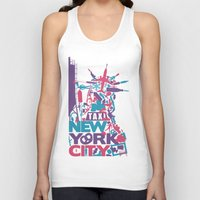 nyc Tank Tops featuring NYC by ahutchabove