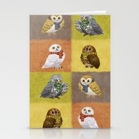 hogwarts Stationery Cards featuring Hogwarts Owls by Katie O'Meara