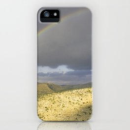 """If you want the RAINBOW you've got to deal with the rain"" iPhone Case"