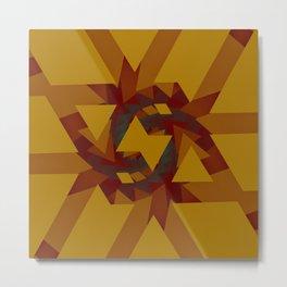 Interlocked Geometry Metal Print