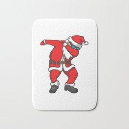 Santa Funny Christmas Bath Mat