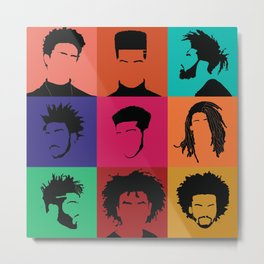 FOR COLORED BOYS COLLECTION COLLAGE Metal Print