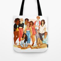marauders Tote Bags featuring Marauders' Era group picture by Miho