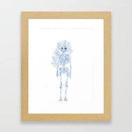 Skeletal Wisdom Framed Art Print