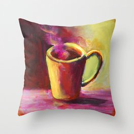 Coffee Cup Study No. 1 Throw Pillow