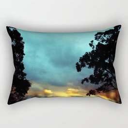 Songs of Blue and Gold Rectangular Pillow