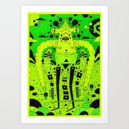 bubbler Art Print