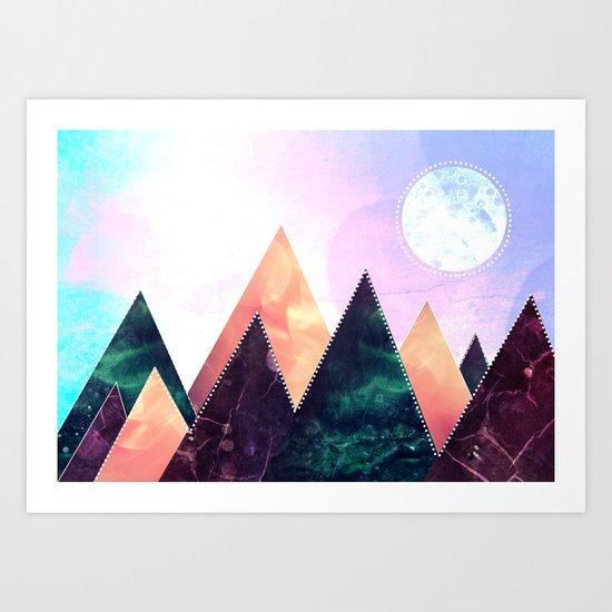 Sunrise of the moon Art Print