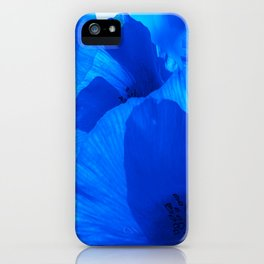 Blue Poppies #decor #society6 #buyart iPhone Case