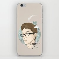 contact iPhone & iPod Skins featuring Contact by Ann Van Haeken
