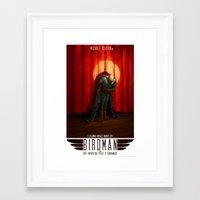 birdman Framed Art Prints featuring Birdman by James Bousema