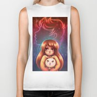 bee and puppycat Biker Tanks featuring Bee and Puppycat by Dani Taillefer