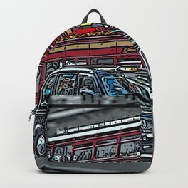 London bus and cab Backpack