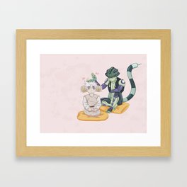 Meruem and Komugi Framed Art Print