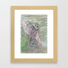 blackdeath birdman Framed Art Print