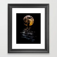 Rainman at Moonrise Framed Art Print