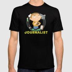 Journalist Mens Fitted Tee Black MEDIUM