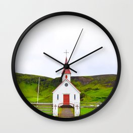 Iceland is Green Wall Clock
