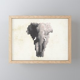 Elephant | Species in danger of pixelation Framed Mini Art Print