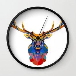 Wild Elk Wall Clock