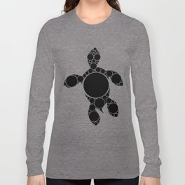 Turtle Dots - Aboriginal Art Long Sleeve T-shirt
