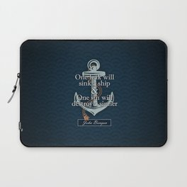 John Bunyan - One Leak Laptop Sleeve