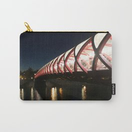 Peace Bridge at Night Calgary 2 Carry-All Pouch