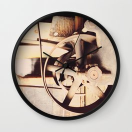 Industrial decor with vintage machine Wall Clock