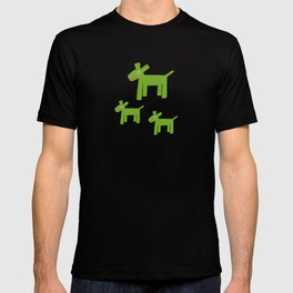 Dogs-Green T-shirt