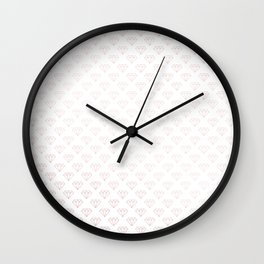Simply Diamonds in Rose Gold Sunset Wall Clock