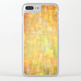 Garden colors abstract texture Clear iPhone Case