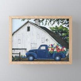Flower Farm Truck Framed Mini Art Print
