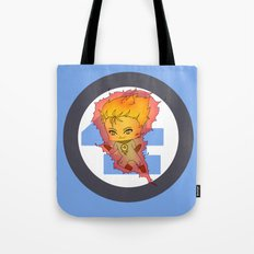 Chibi Human Torch Tote Bag