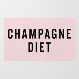 Champagne Diet Funny Quote Rug
