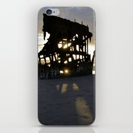 Wreck of the Peter Iredale at sunset iPhone Skin