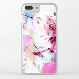 Pinky Swear (Abstract Paint Photograph) Clear iPhone Case