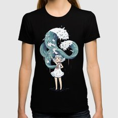 Daughter of the Sea LARGE Black Womens Fitted Tee