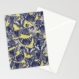 butterfly yellow Stationery Cards
