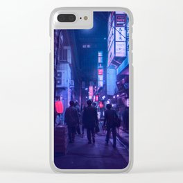 Tokyo Nights / One Minute To Midnight / Liam Wong Clear iPhone Case