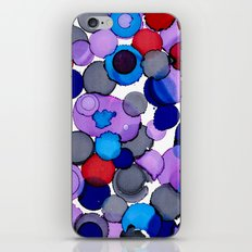 Blue Colour splash  iPhone & iPod Skin