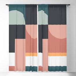 Abstract Geometric 07 Blackout Curtain