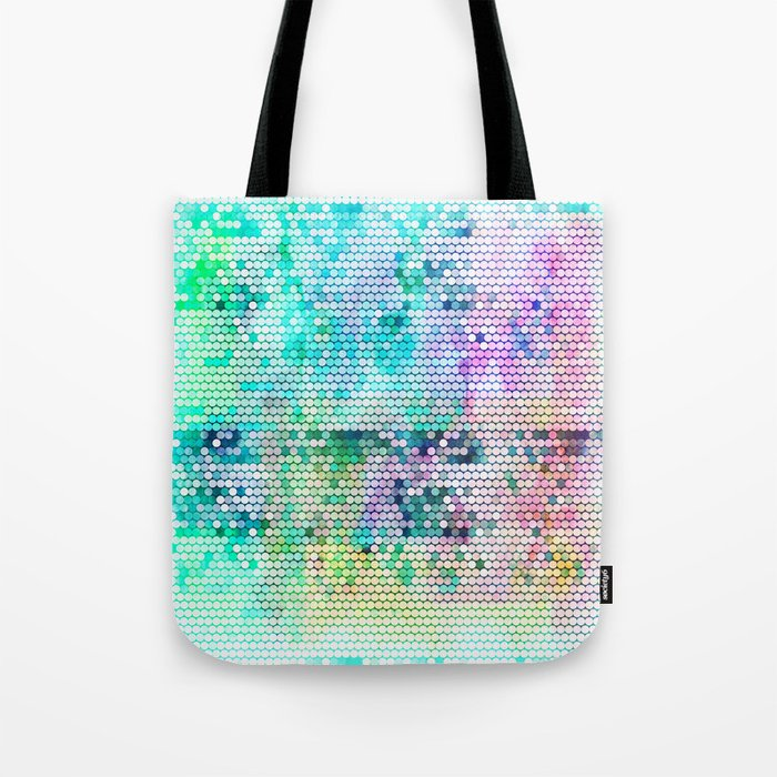Fancy dots colorful abstract modern pattern Tote Bag