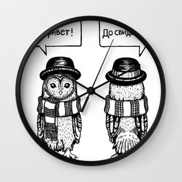 Hello Goodbye Wall Clock