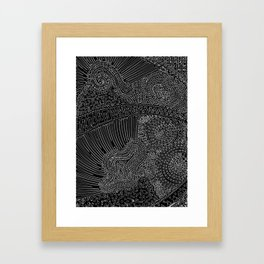 tiny lines Framed Art Print