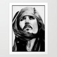 jack sparrow Art Prints featuring Jack Sparrow by Gabriel Fox