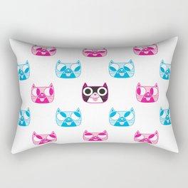 We are watching you. MEOW x 5 Rectangular Pillow
