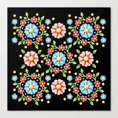 Millefiori Folkloric Pinwheel Canvas Print