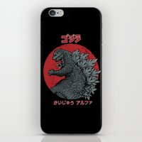 kaiju iPhone & iPod Skins featuring Gojira Kaiju Alpha by pigboom el crapo