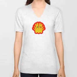 Look! There is a Ghost  in the Shell! Unisex V-Neck