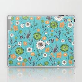 Emma - Wildflowers in Teal & Tangerine Laptop & iPad Skin